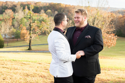 Same sex wedding photos near Asheville, NC