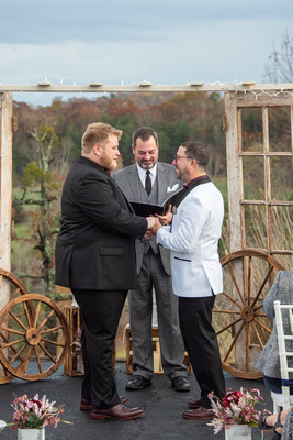 wedding ceremony with lgbtq couple near Asheville, NC