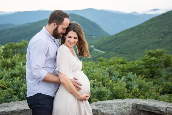 Maternity photo at Craggy Pinnacle near Asheville NC