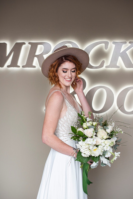 Bride at The Shamrock Room in Brevard NC