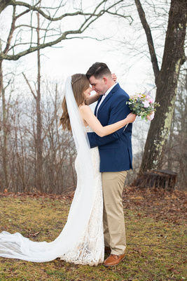 Mountain top wedding photos at Jump Off Rock near Asheville NC