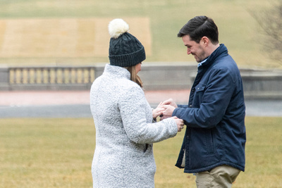 How to propose at Winter engagement proposal at Biltmore Estate in Asheville NC
