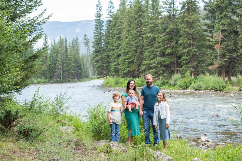 Gallatin River near Big Sky, MT family photos